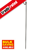 Roughneck Fencing Pins 1.2m Black Pack of 10